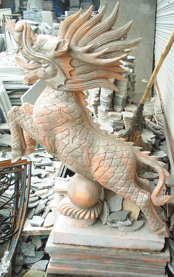 杭州大理石石雕动物雕塑 麒麟 大象