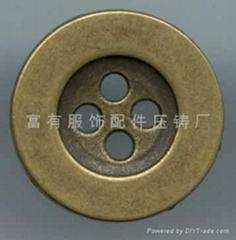 合金四孔钮