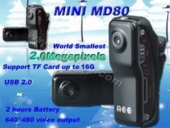 D0068 MD80 AEE Smallest Voice Recorder DV Spy Camera Steel
