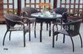 戶外編藤桌椅 1