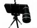 12x Zoom Telescope Camera Lens Kit With Mini Tripod For iPhone4/4S