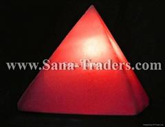 Salt Pyramid Lamp