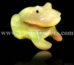 Natural Marble Onyx Designed Frog Handicrafts