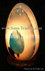 Natural Marble Onyx Designed Lamp