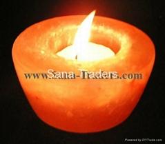 Natural Himalayan Rock Salt Designed Tea Light