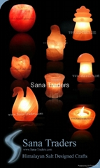 Himalayan Natural Rock Salt Designed Lamps & Tea Lights