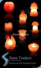 Himalayan Natural Rock Salt Designed Lamps & Tea Lights