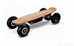 Electric skateboard with the remote control