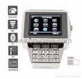 Premiere - Dual SIM Quadband Stainless Steel Cell Phone Watch (WiFi, JAVA, MP3 /