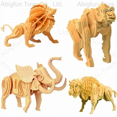 animal woodcraft model kits 3d woodcraft puzzle
