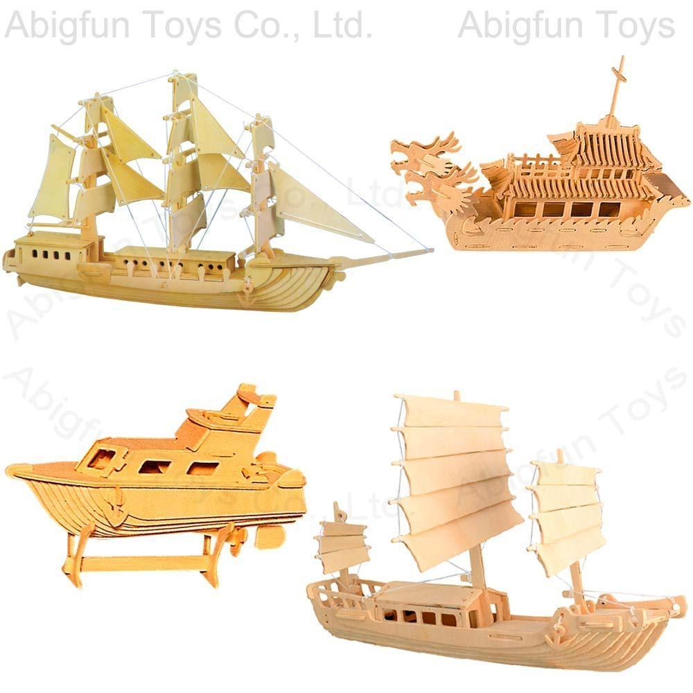 3d wooden puzzle boat min order 3000 pc keywords 3d puzzle 3d wooden ...