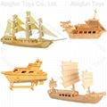 3d wooden puzzle boat construction kit