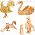 woodcraft construction kit bird model
