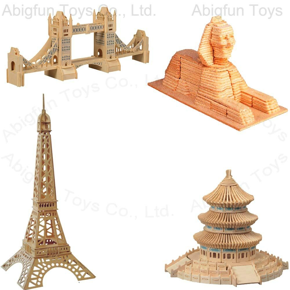 Wood craft model buildings woodcraft bridge tower kits for Wooden craft supplies online