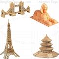 wood craft model buildings, woodcraft