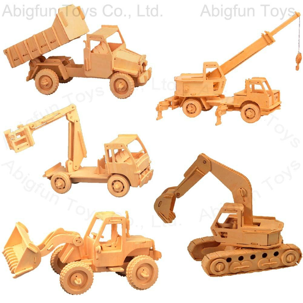 Construction Toys Product : Wooden construction kit vehicle craft model
