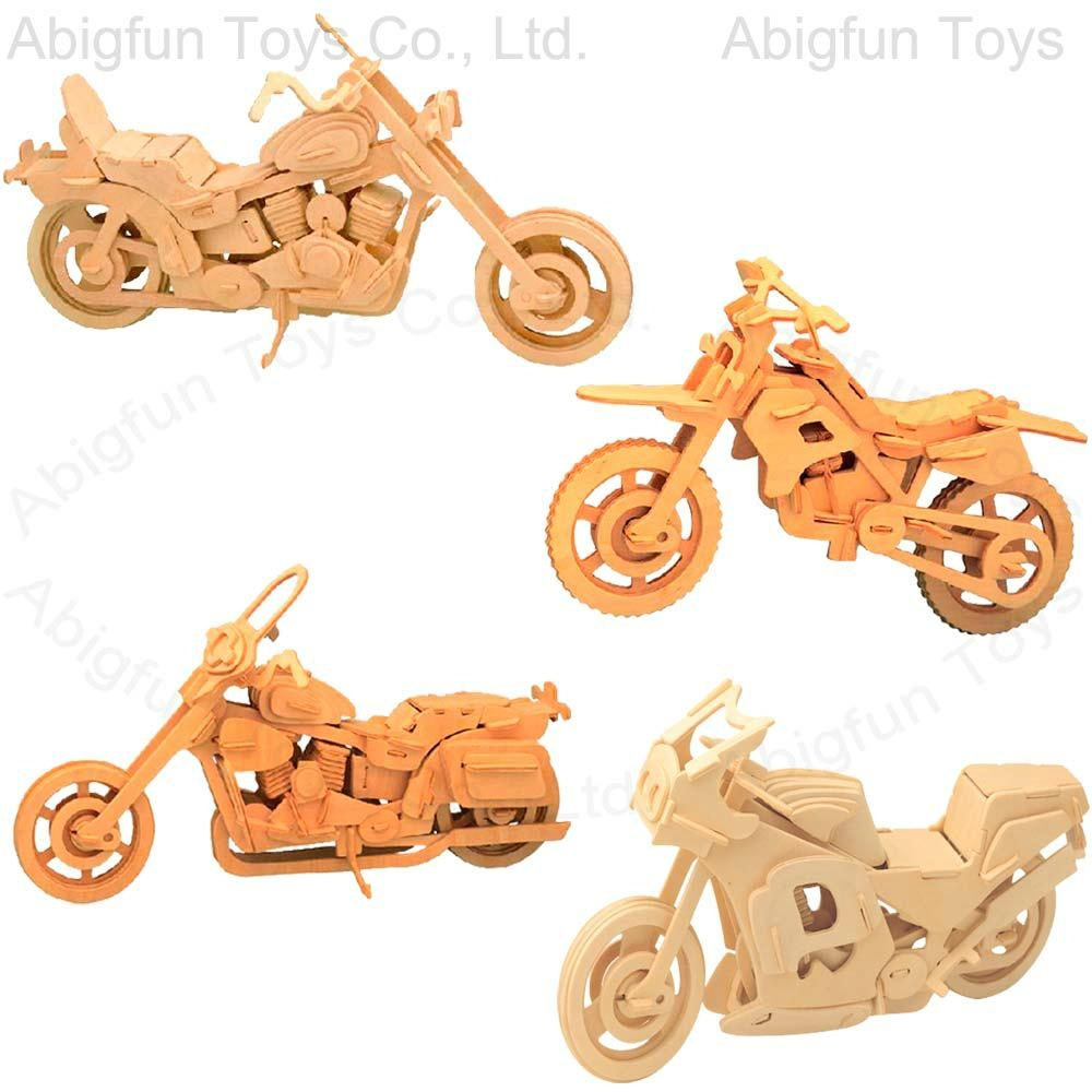 Wooden Animal Puzzle 3d Wooden Puzzle Motorcycle
