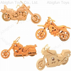 3d wooden puzzle motorcycle model kit