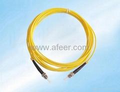ST-ST Fiber Patch Cable,Duplex, PC,Multimode 62.5/125 Micro Fiber