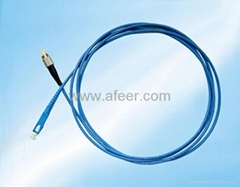 Armoured fiber patch cable