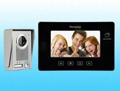 """Home security 7"""" color hand-free video door phone intercom"""