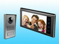 "Home security 7"" hand-free color video door phone monitor intercom"
