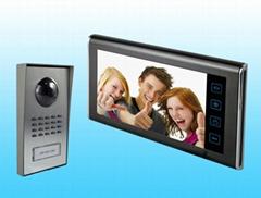 "Home security 7"" hand-free color video door phone monitor intercom"