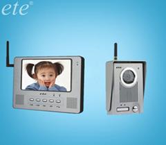 Wireless 7'' screen video intercom door phone viewer