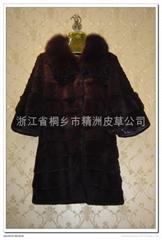 皮草服飾 女士兔毛狐狸領大衣
