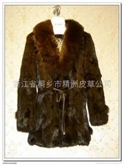 皮草服飾 女士兔毛大衣+狐狸領