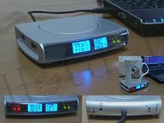 USB Cup Warmer & Clock,Temperature
