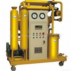Single stage transformer oil filter