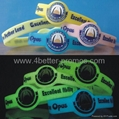 silicone watch bands glow wristband
