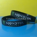 monsters energy silicone wristband