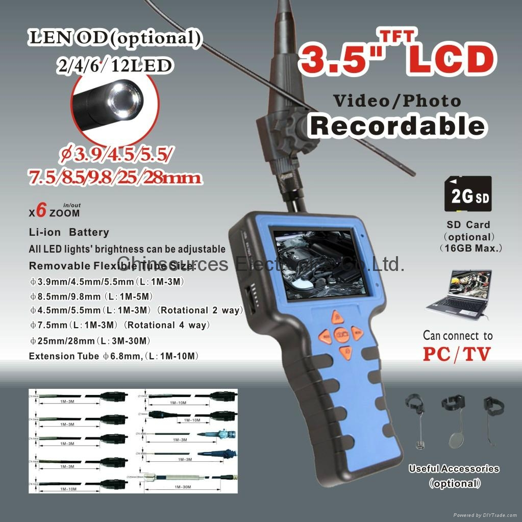 88DS--7530L1   4 way Rotation industrial Endoscope
