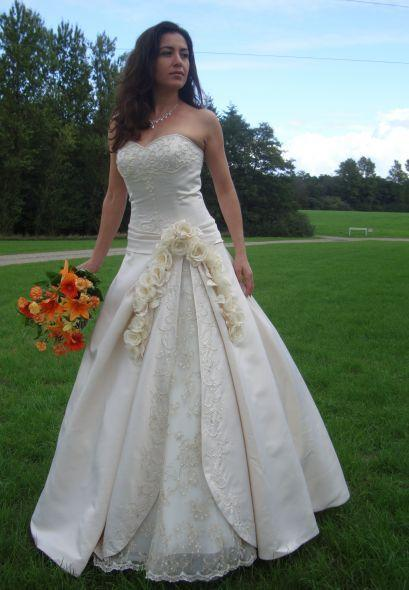 Custom Wedding Dress Strapless Style