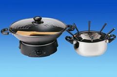 Electric wok & fondue set