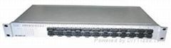 24 port 100Base-Fx + 2 gigabit port ethernet switch