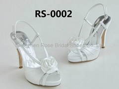 satin bridal shoes