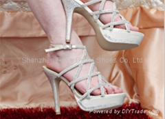 high heel platform bridal shoes