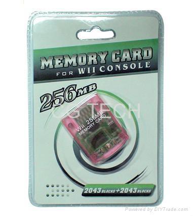 Wii memory card (8MB, 16MB, 32MB, 64MB, 128MB, 256MB)