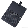 "USB Keyboard & Protective Leather Cover Case Bag Stand for 7"" 7 inch Tablet PC"