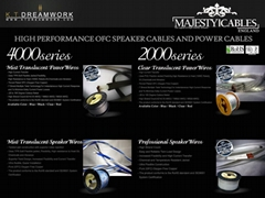 MAJESTYCABLES SPEAKER CABLES AND POWER CABLES