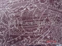彈力染色印花貢緞面料 2015新款