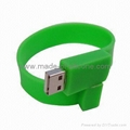 USB silicone wristbands
