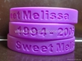 silicone wristband with debossed text (Hot Product - 1*)