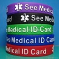 Embossed color printed silicone wristbands