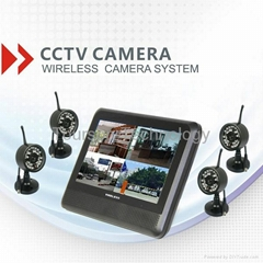 4ch digital wireless cctv kit with monitor
