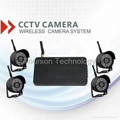 4ch digital wireless cctv camera system