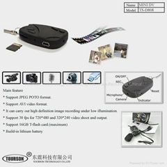 small hidden camera car key